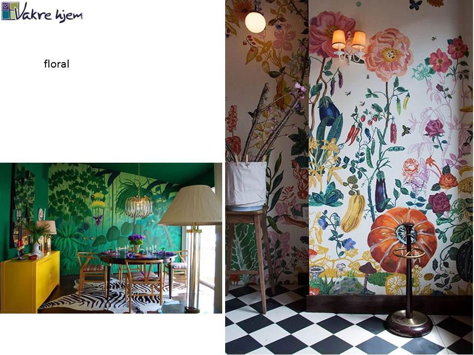 vilken interiørstil liker du? Her Floral stil
