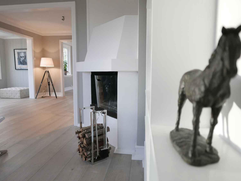 Stuen etter oppussing- Vakkert hjem